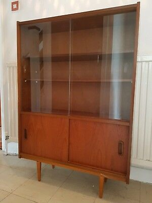 G-plan(?) Glass front display/drinks  cabinet vintage/retro