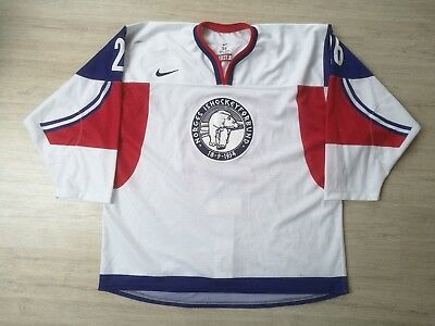 2014 WC U20 IIHF Game Worn Norway Ice Hockey Jersey NIKE Norge #18 NILSEN