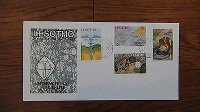 Lesotho 1973 International Kimberlite Conference set on First Day Cover