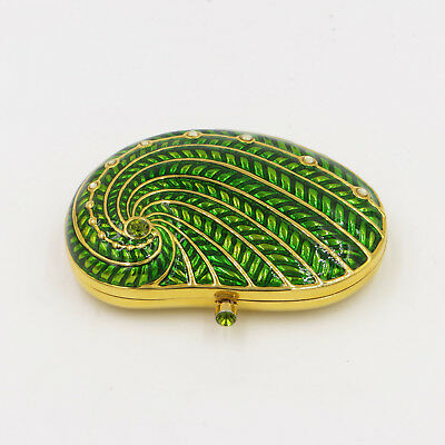 ESTEE LAUDER SHORE THINGS GREEN SEA SHELL POWDER COMPACT LUCIDITY New