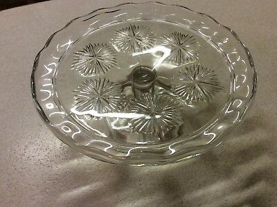 Antique Glass Cake Stand No Chips,  Crinkles Was My Mothers Passed Away Aged 97