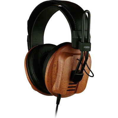 Fostex T60RP RP Stereo Audiophile Headphones w/ African Mahogany Wooden Cups