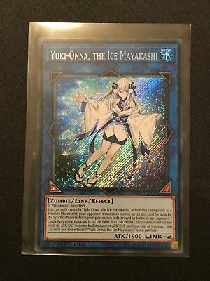 Yugioh: Yuki-Onna, The Ice Mayakashi HISU-EN037 - Secret Rare - 1st Edition