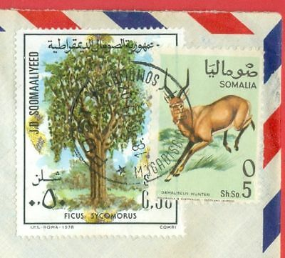 Somalia 2 diff stamp used on Registered cover to USA