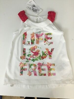 Mayoral baby girls Age 2 Years Top T Shirt White And Floral Brand New With Tags