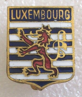 Vintage Luxembourg Coat-of-Arms Tourist Travel Souvenir Collector Pin