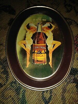 Royal Crown Cola Tip Tray RC Cola Vintage Fabcraft Advertising Small Oval Metal