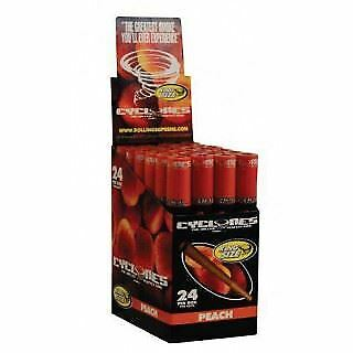 Cyclone Blunt Wraps Clear Peach Full Box of 24