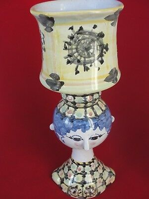 Rare Pretty Bjorn Wiinblad Lady With Pot Or Vase On The Head V41 1968