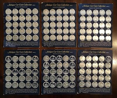 1960's Sunoco Antique Car Franklin Mint Coin Collection Set Series 1