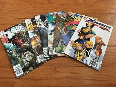 X-Men power Pack and Uncanny X-Men Comic Lot Of 7