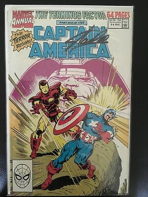 Captain America Annual #9 1990 Signed By Stan Lee COA