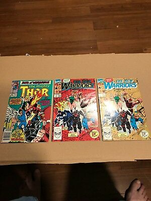 The Mighty Thor 412 First app of the New Warriors, New Warriors 1, Reprint 1,