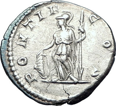 GETA 207AD Rome Authentic Genuine Silver Ancient Roman Coin Minerva i73591