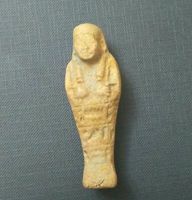 Rare Ancient Egypt Egyptian Antique faience USHABTI R amulet late Period (672–33
