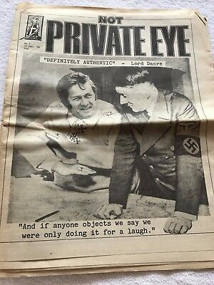 Possibly collectable? 'Not' Private Eye Newspaper / Magazine / Broadsheet No 1