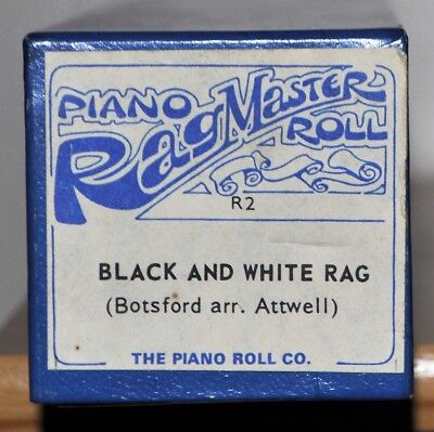 "THE PIANOLA ROLL EVERYONE WANTS! - ""BLACK & WHITE RAG"" played by Winifred Atwell"