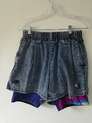 Nike Challenge Court Vintage 90's Shorts Acid Wash Denim Andre Agassi Large