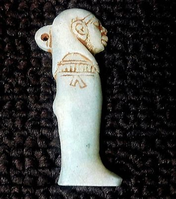 Rare Ancient Egypt Egyptian Antique son of Horus Imsety amulet (672–332 BC)