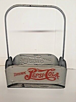 Vintage Pepsi Cola, Metal 6 Pack Carrier Bottle Holder Advertising