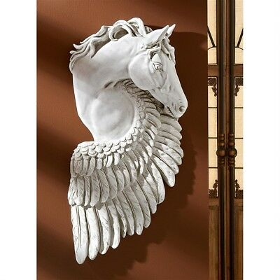 ©Wings Of Fury Pegasus Horse Design Toscano Wall Sculpture Antique Stone Finish