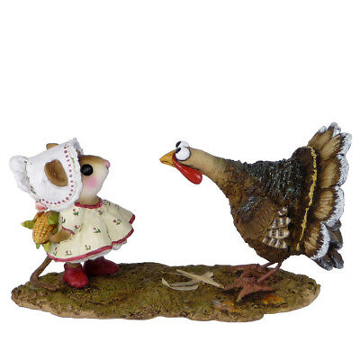 Wee Forest Folk COB GOBBLER, WFF# M-558, Thanksgiving Mouse & Turkey