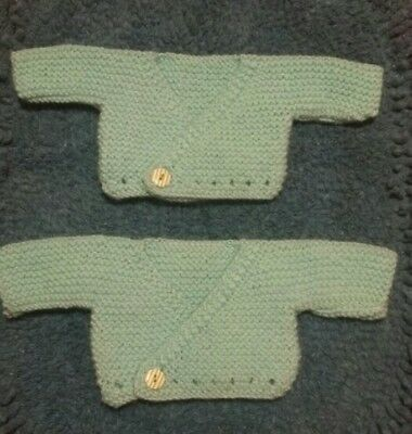 85af30458116 HAND KNITTED - Premature Baby Cardigans - 3 - 5 lb - Twins - can be ...