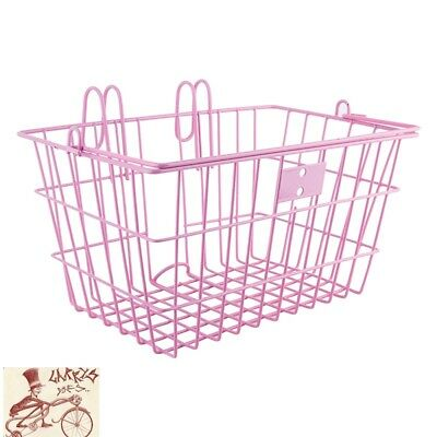 Sunlite Bicycle Front Basket Mesh Lift Off Carrier PINK Cruiser Commuter Bike