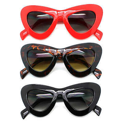 XXL Oversized Cat Eye Sunglasses Gradient Lens Retro Thick Frame Women Fashion