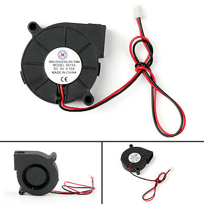 1Pcs Brushless DC Cool Blower Fan 5V 5015S 50x50x15mm 0.15A Sleeve 2 Pin Wire B2