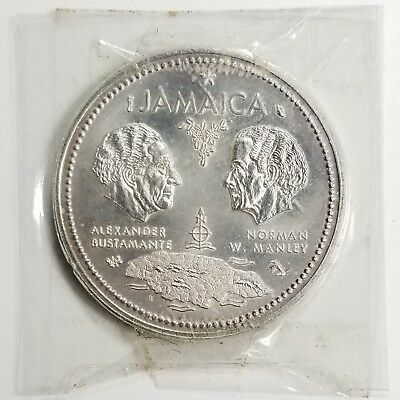 Jamaica KM#60 1972 10 Dollars Uncirculated Silver Coin, Independence [3957.02]