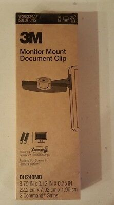 3M Monitor Document Clip with Command Strips fits most flat screens