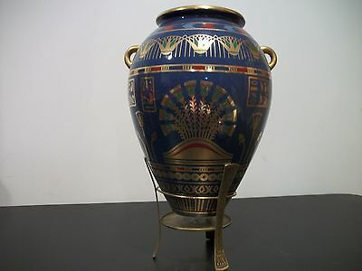 Estate Sale Collectible Egyptian Golden Vase Decorated In 24K Over 20 Yrs.old