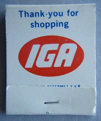 Thank-you For shopping IGA Merci de votre patronage chez Matchbook (MK1)