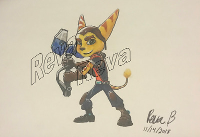 Ratchet and Clank: Ratchet original drawing by Reva, B.