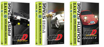 Initial D - Anime TV Series - First,Second,Third,Fourth Stage - 1 2 3 4 DVD Set