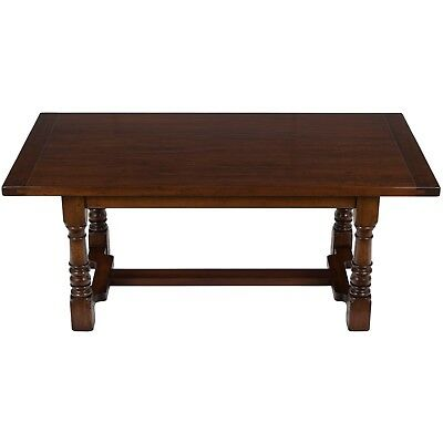 New Antique Style Narrow Cherry Farm Dining Kitchen Table Thick Top English