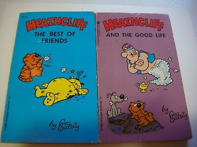 Vintage  Heathcliff The Best of Friends / and the good life Pre-Owned lot #103