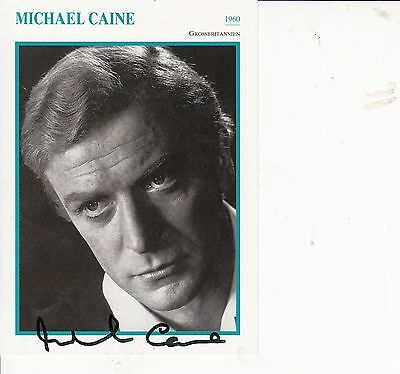 Michael Caine Autographed Photo Card