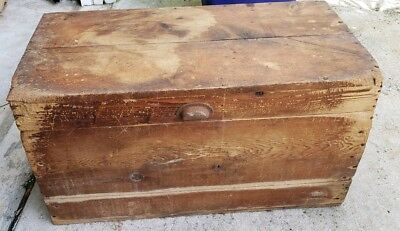 Antique Wooden Trunk Pre-1933 Barnhart Brothers & Spindler From Foundry