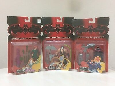 Batman & Robin LOT 3 Poison Ivey Iceboard Bane w/Double-Attack Axe Kenner 1997