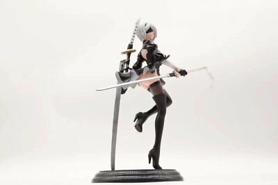 Anime NieR Automata YoRHa No 2 Type 2B 25cm PVC Figure Figurine Toy Gift No Box