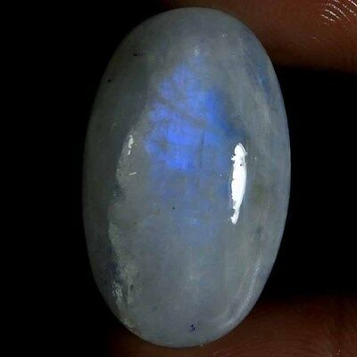25.35CT 100% NATURAL BLUE FLASHY RAINBOW MOONSTONE OVAL CABOCHON top GEMSTONE