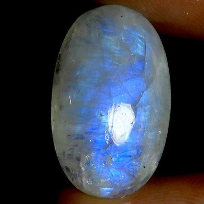 High Grade Blue Flashy 20.15cts NATURAL RAINBOW MOONSTONE OVAL Cab GEMSTONE