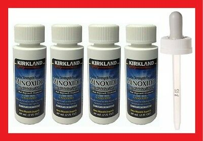Kirkland Minoxidil 5% Men's Hair Regrowth Solution 4 Months Supply +Free Dropper