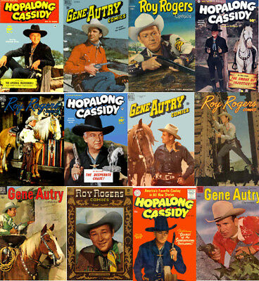 Hopalong Cassidy, Gene Autry, Roy Rogers Western Comics 180 Issues on DVD