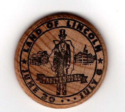 Wooden Nickel 1957 Springfield, IL Land of Lincoln Capitennial