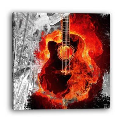 Modern wind abstract still life flame guitar club decoration painting 1 PC frame