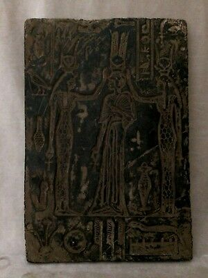 ANCIENT EGYPTIAN ANTIQUES Hathor Isis Nefertari STELA RELIEF EGYPT STONE 1279 BC