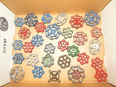 LOT of 30 WATER VALVE FAUCET HANDLES VINTAGE INDUSTRIAL STEAMPUNK SALVAGE #6